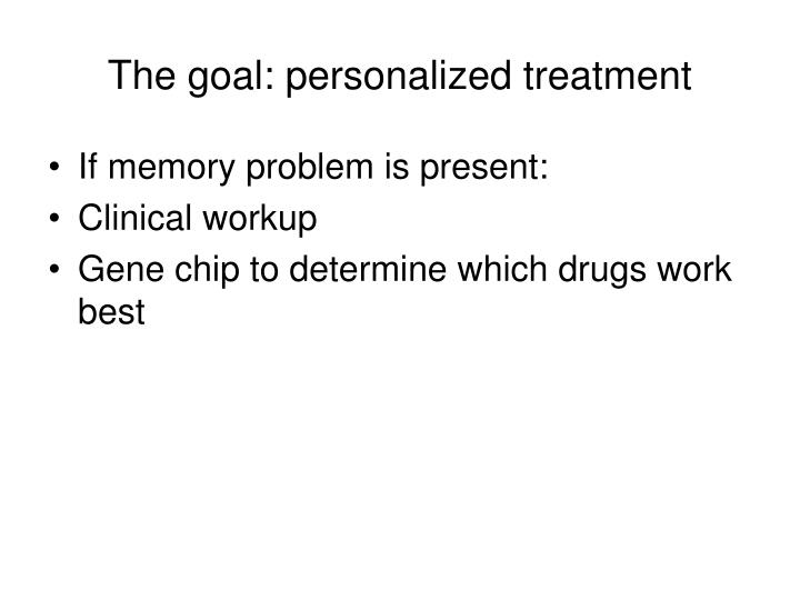 The goal: personalized treatment