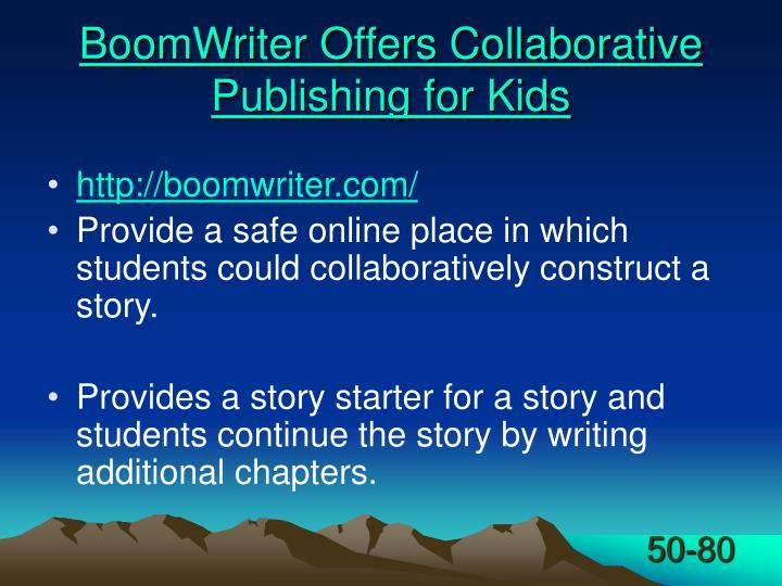 BoomWriter Offers Collaborative Publishing for Kids