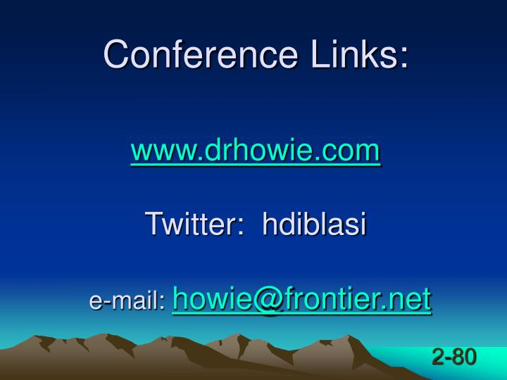 Conference Links: