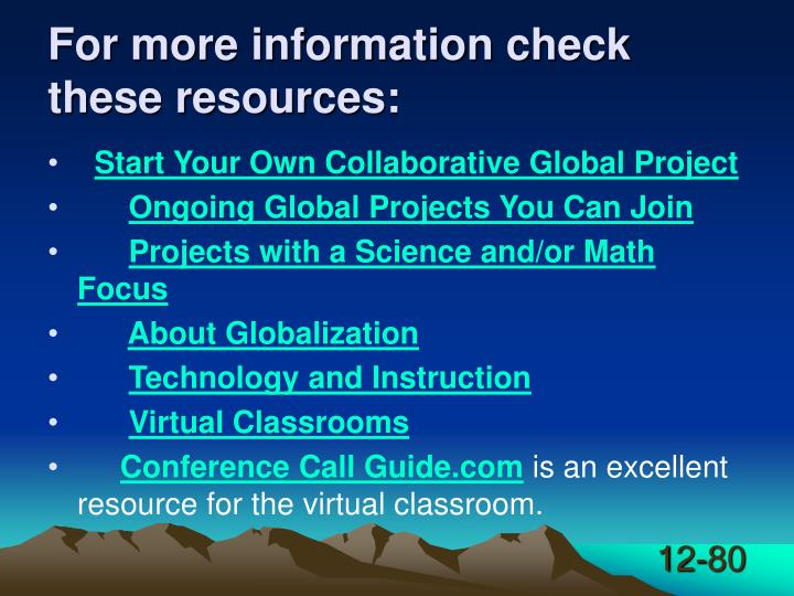 For more information check these resources: