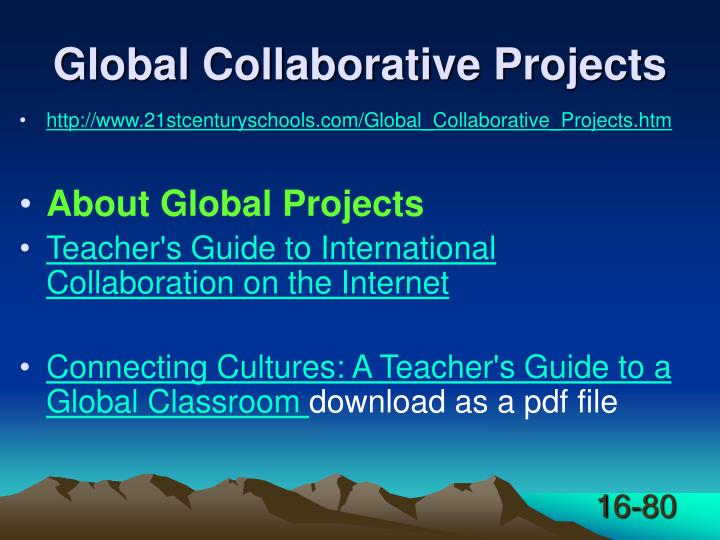 Global Collaborative Projects