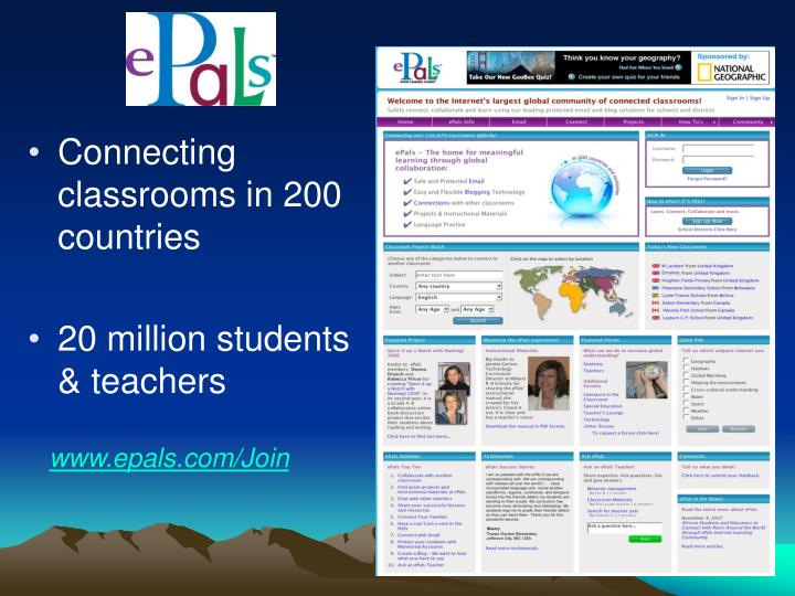 Connecting classrooms in 200 countries