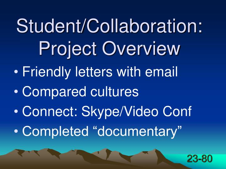 Student/Collaboration: