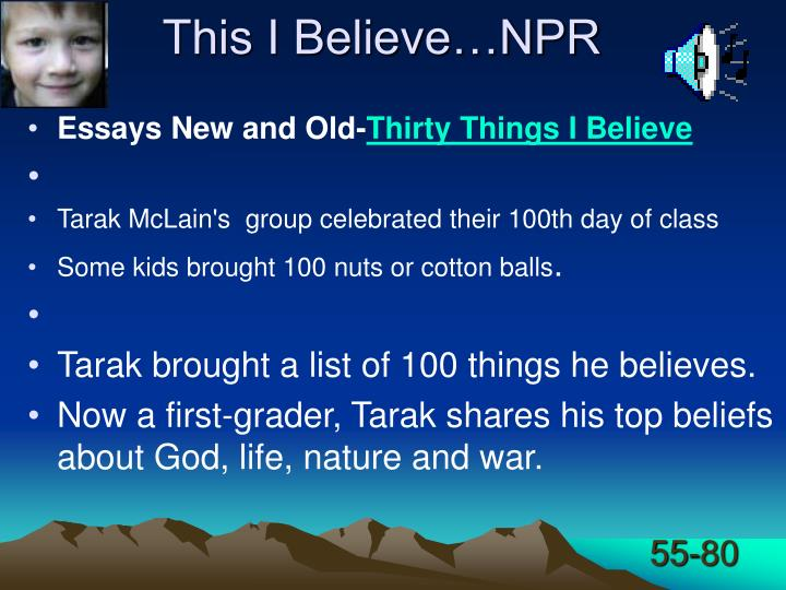 This I Believe…NPR