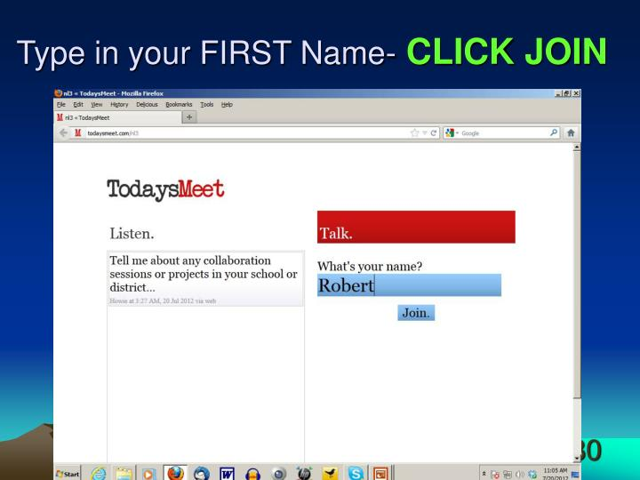 Type in your FIRST Name-