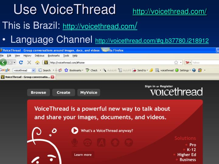 Use VoiceThread
