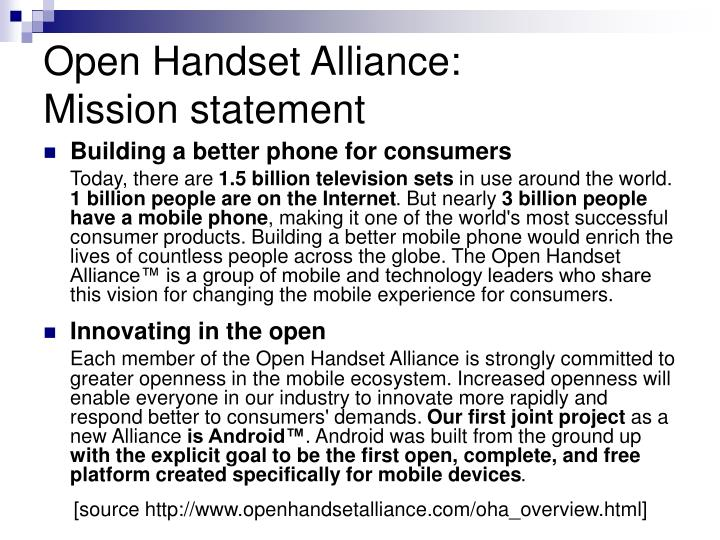 Open Handset Alliance: