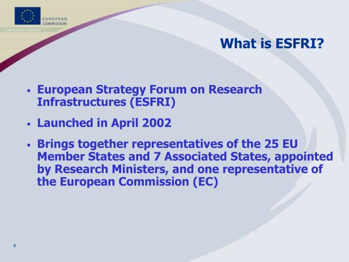 What is ESFRI?