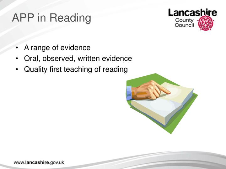 APP in Reading