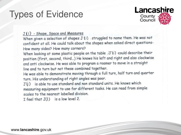 Types of Evidence