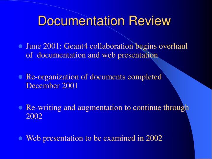 Documentation Review