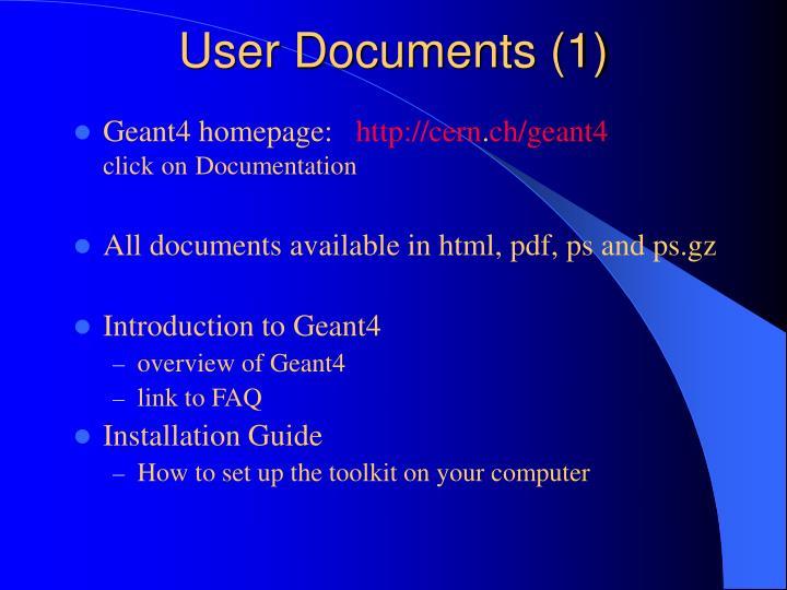 User Documents (1)