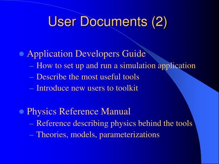 User Documents (2)