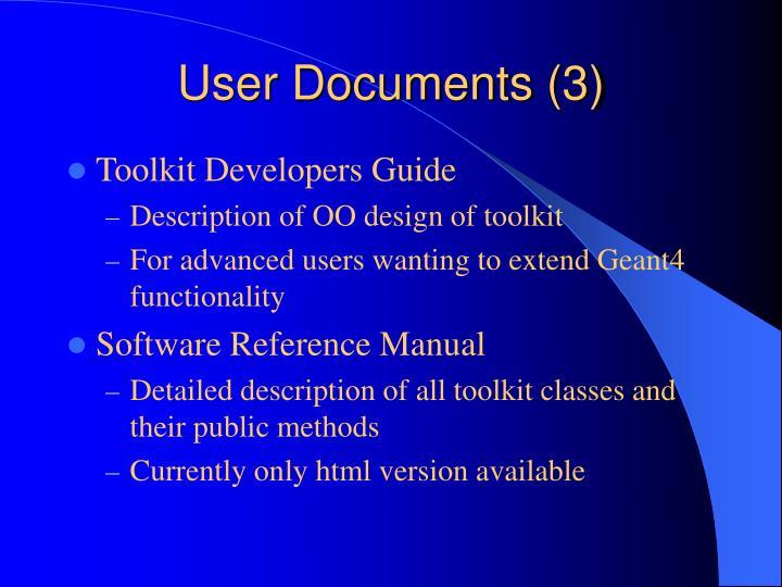 User Documents (3)