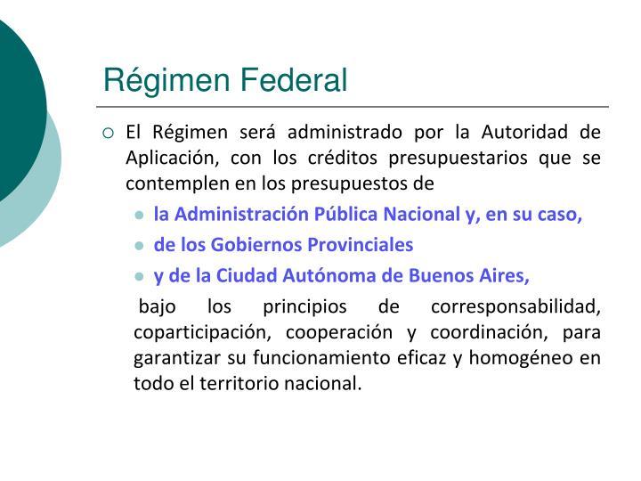 Régimen Federal