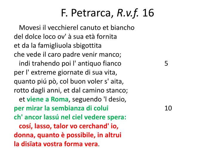 F. Petrarca,