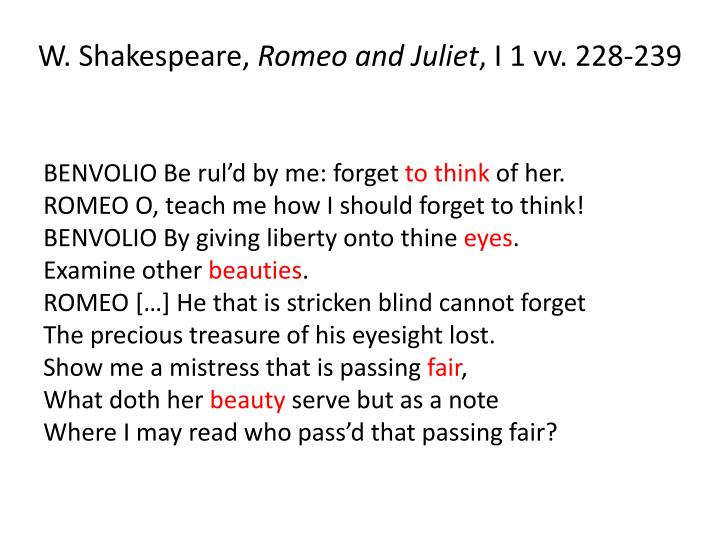 W. Shakespeare,