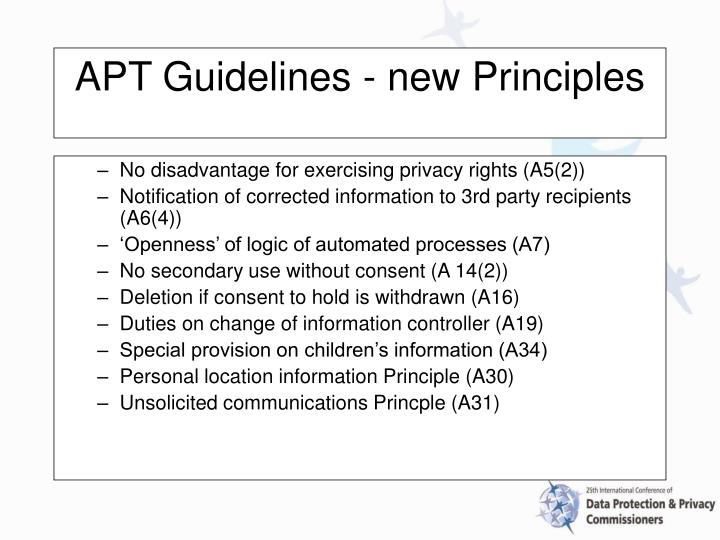 No disadvantage for exercising privacy rights (A5(2))