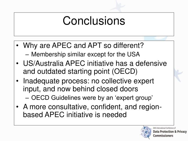 Why are APEC and APT so different?