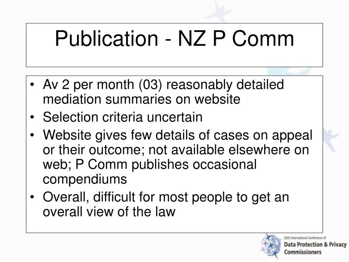 Av 2 per month (03) reasonably detailed mediation summaries on website