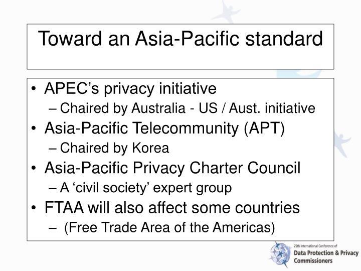 APEC's privacy initiative