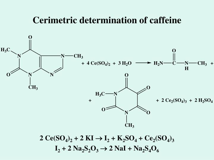 Cerimetric determination of caffeine