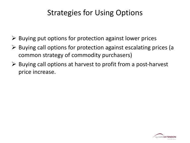 Strategies for Using Options