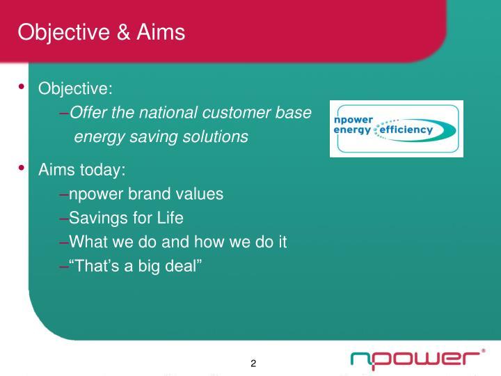Objective & Aims