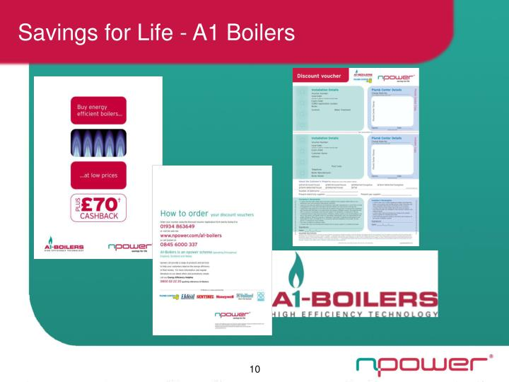 Savings for Life - A1 Boilers