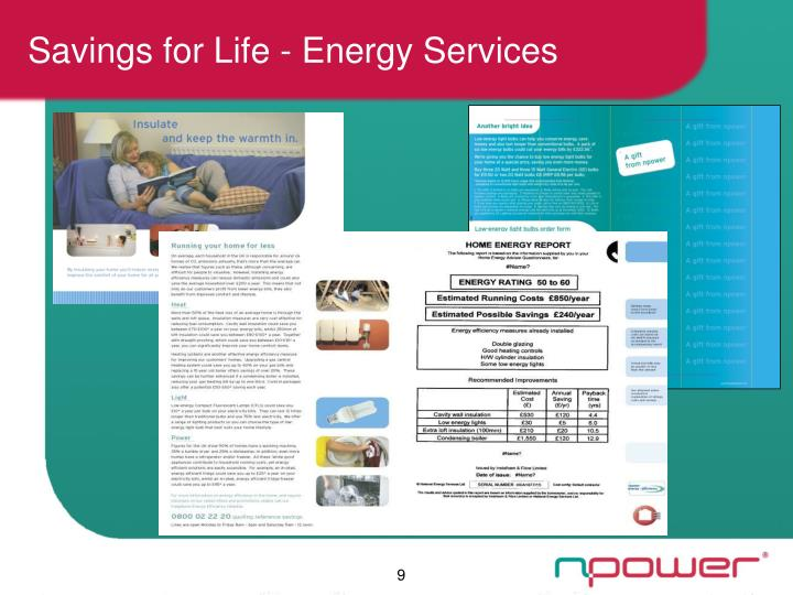 Savings for Life - Energy Services