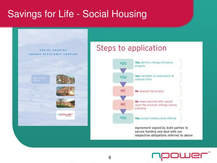 Savings for Life - Social Housing