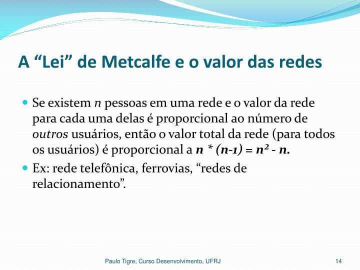 """A """"Lei"""" de Metcalfe e o valor das redes"""