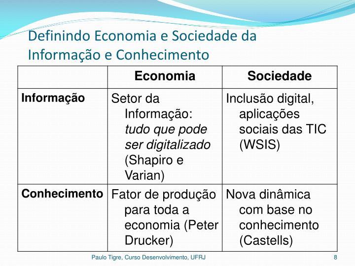 Definindo Economia e Sociedade da Informação e Conhecimento