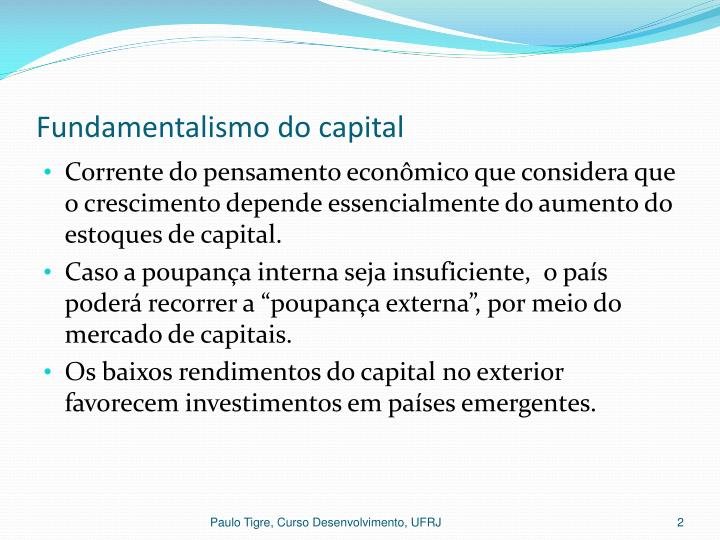 Fundamentalismo do capital