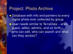 project photo archive