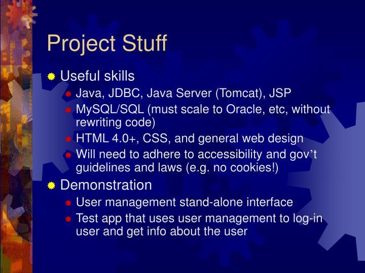 Project Stuff