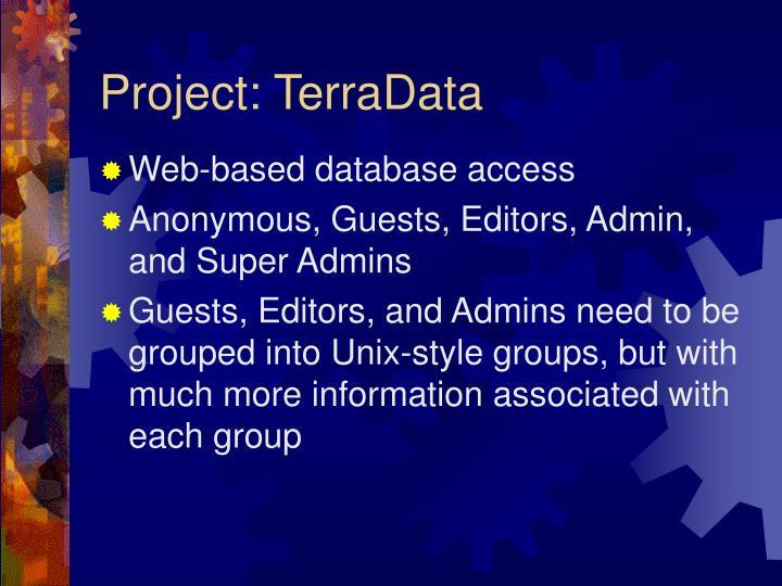 Project: TerraData