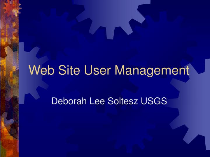 web site user management