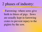2 phases of industry