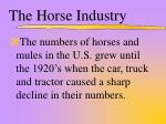 the horse industry1