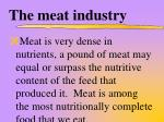 the meat industry7