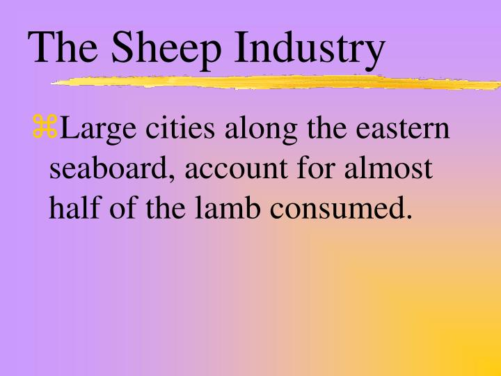 The Sheep Industry