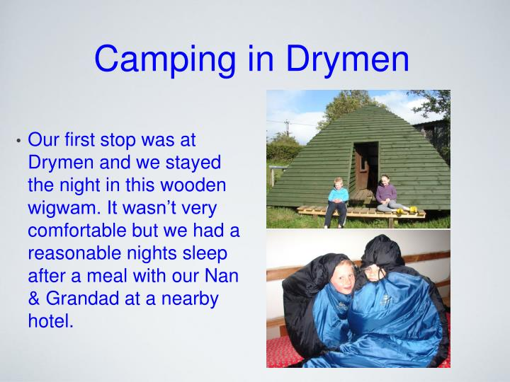 Camping in Drymen