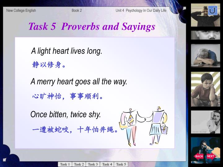Task 5  Proverbs and Sayings