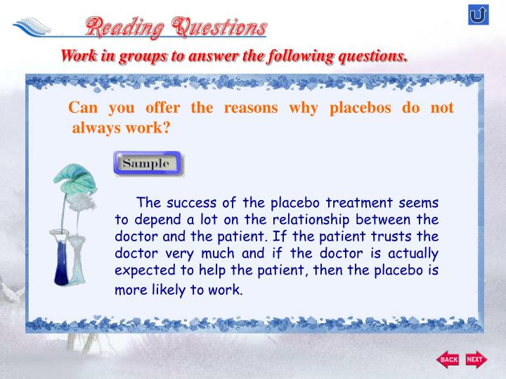 Work in groups to answer the following questions.