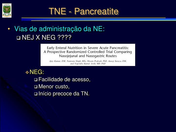 TNE - Pancreatite