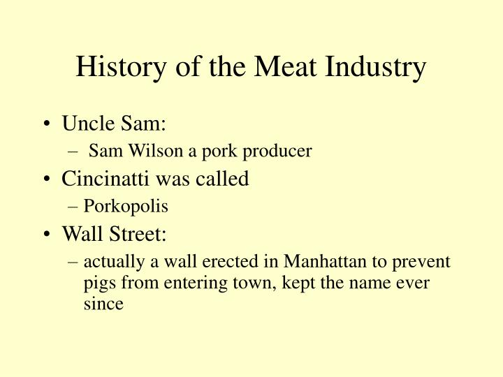 History of the Meat Industry