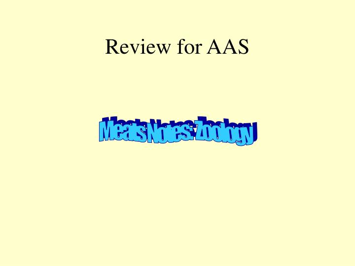 Review for aas