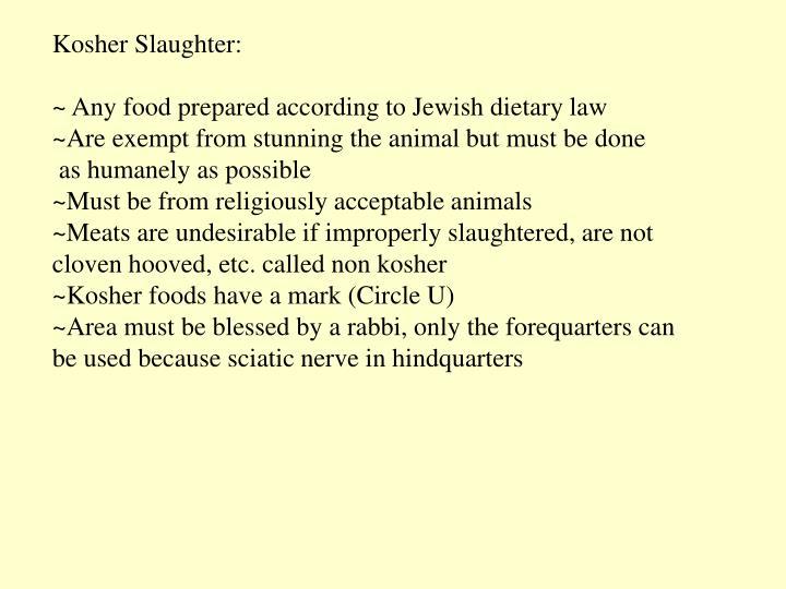 Kosher Slaughter: