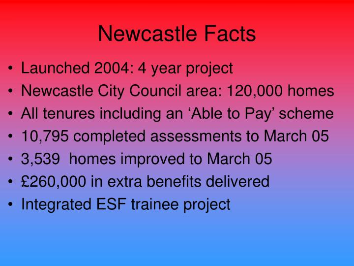 Newcastle Facts